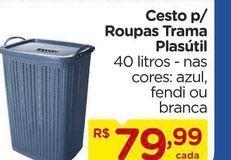 Oferta de Cesto para roupa Plasutil por R$79,99