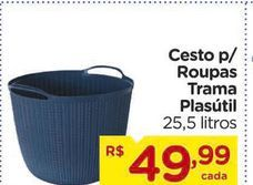 Oferta de Cesto para roupa Plasutil por R$49,99