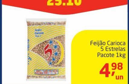 Oferta de Feijão carioca 5 Estrelas 1 kg por R$4,98