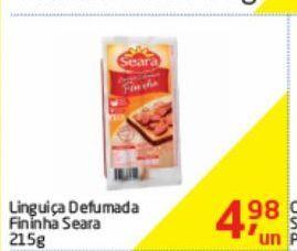 Oferta de Linguiça Seara 215 g por R$4,98
