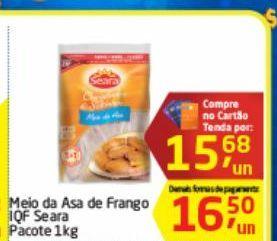 Oferta de Asa de frango Seara 1 kg por R$15,68
